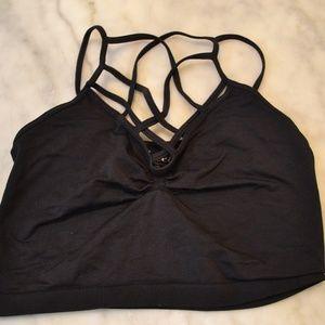 Criss-Cross Black Bralette